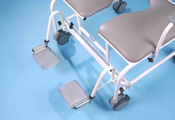 Freeway T100 Bariatric Shower Chair Footrests