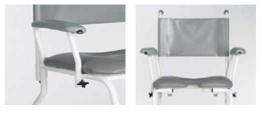 shower chair armrests