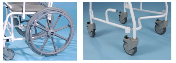 shower chair wheels