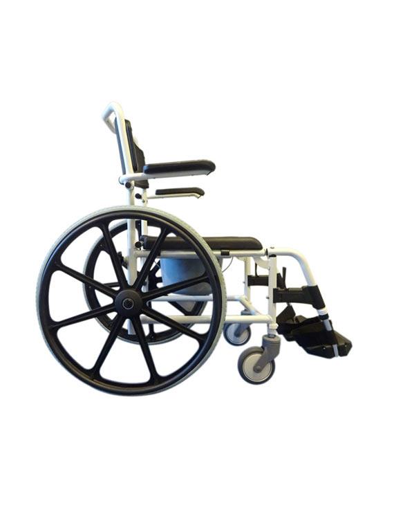 Essentials Shower Chair Self Propelled Side