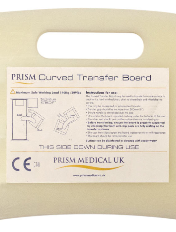 prism curved transfer board label